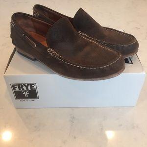 Frye Shoes - Men's Frye dark brown suede loafer. Size  11 1/2.